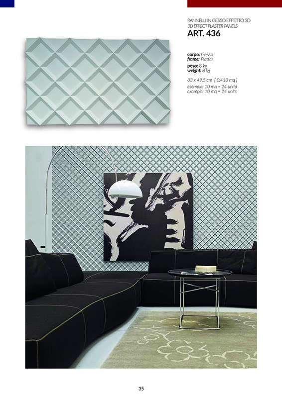 PANNELLI EFFETTO 3D / art.436