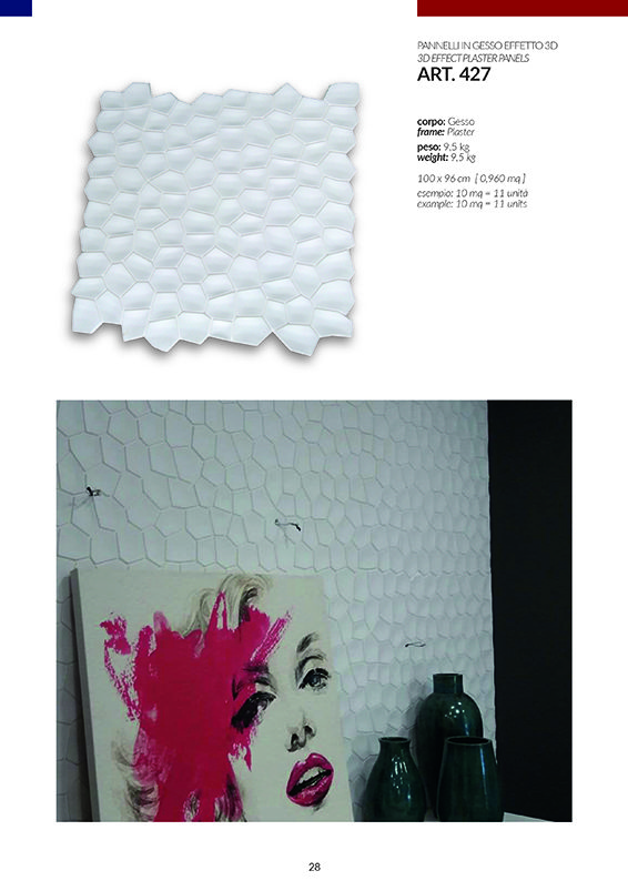 PANNELLI EFFETTO 3D / art.427